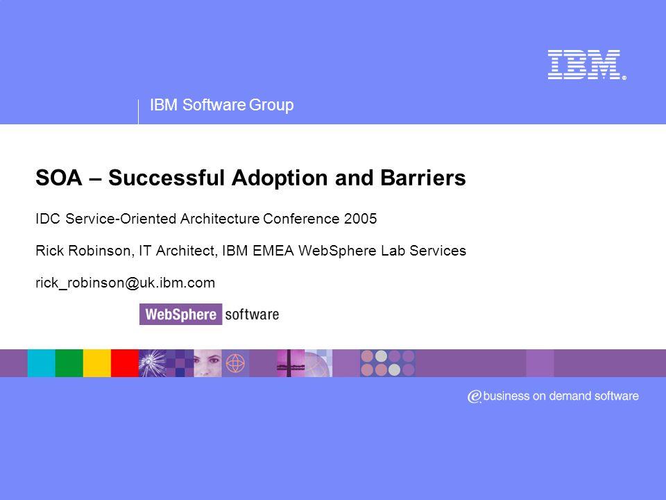 IBM Software Group ® Roadmaps