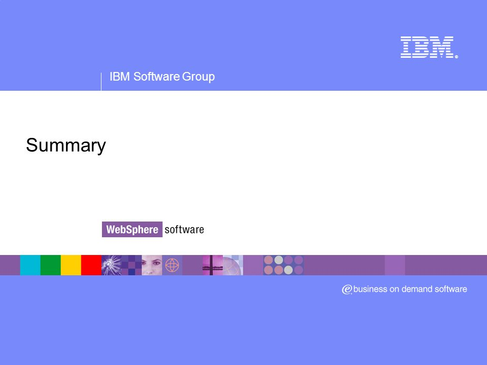 IBM Software Group ® Summary