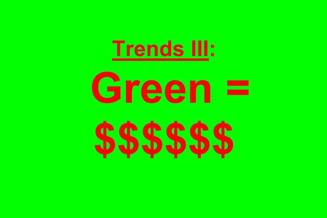 Trends III: Green = $$$$$$