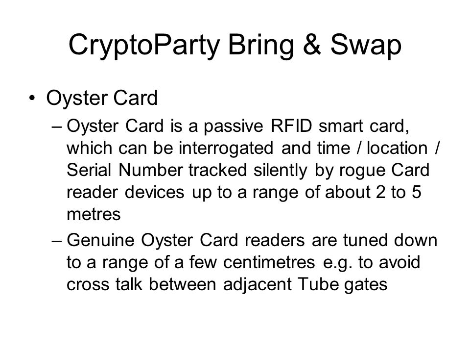 CryptoParty Bring & Swap Prepaid Mobile Phone Top Up Mag Stripe Swipe Cards –Some Networks e.g.