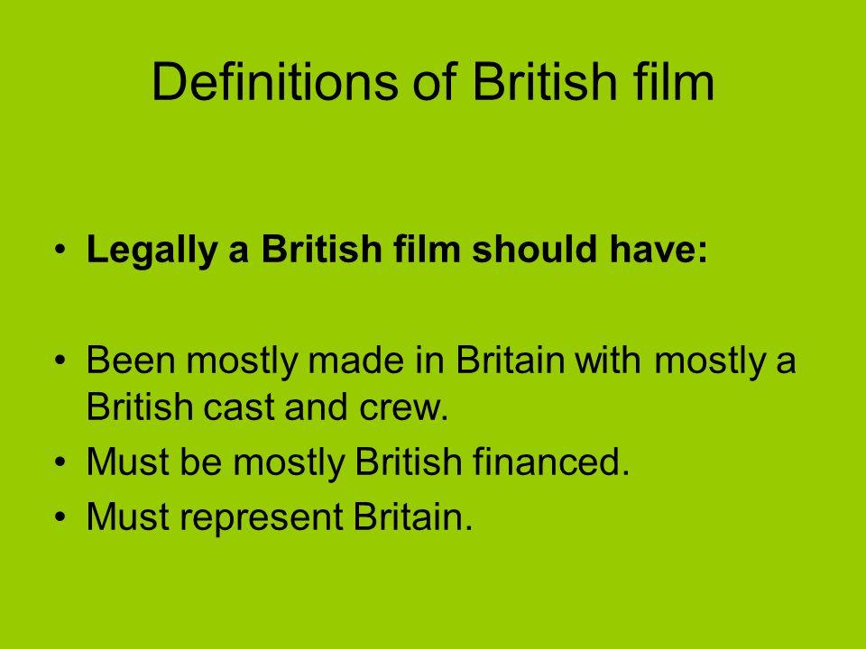British cinema – things to consider….