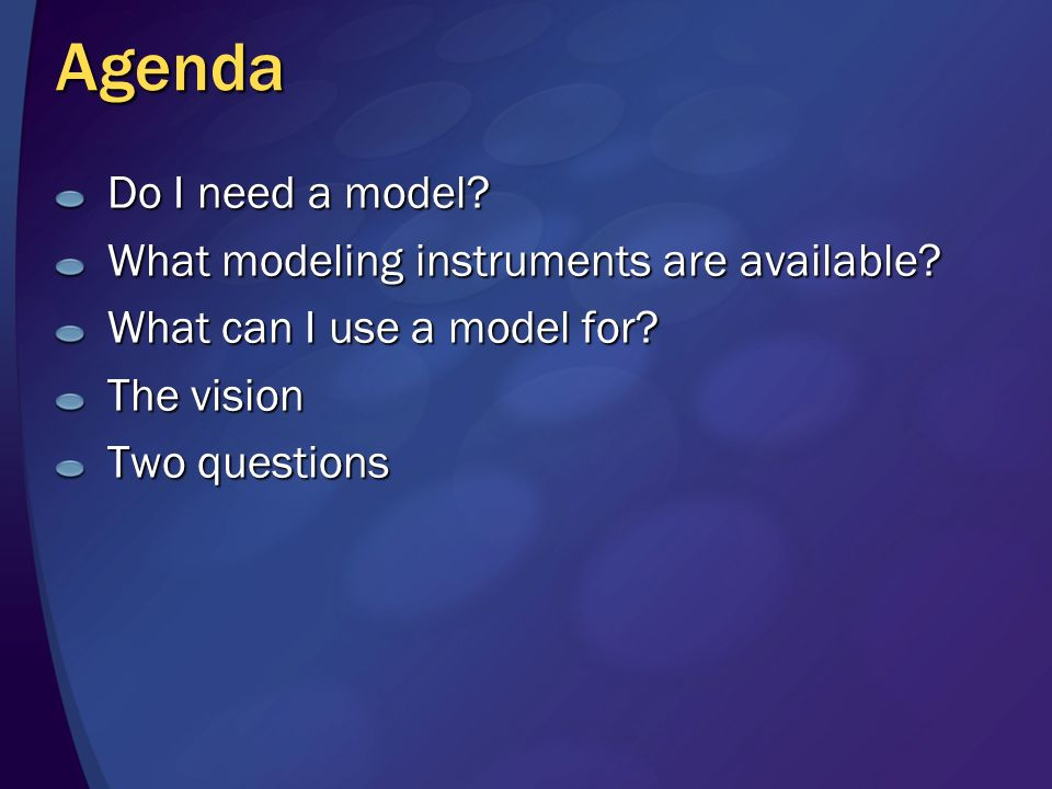 Model-Based Management SDM Model Real-World System 3.