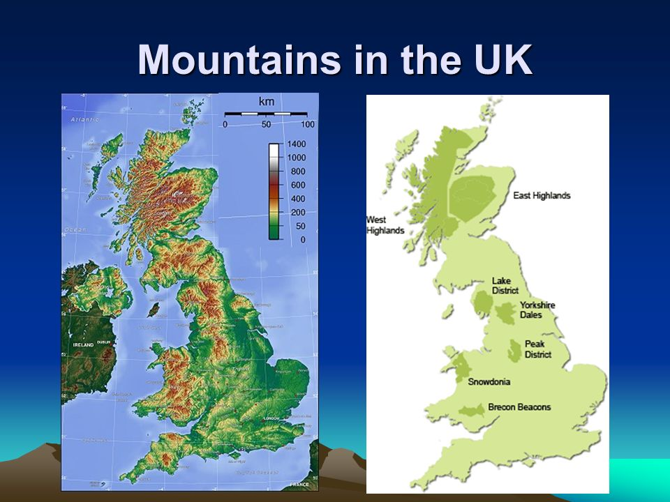 Mountains in the UK