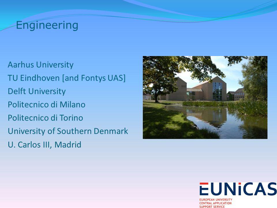 Aarhus University TU Eindhoven [and Fontys UAS] Delft University Politecnico di Milano Politecnico di Torino University of Southern Denmark U.