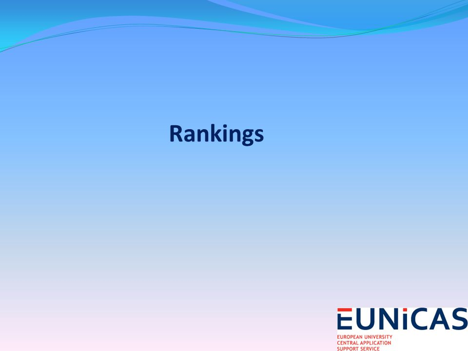 Rankings are a guide only: they dont necessarily reflect quality of undergraduate experience or of particular discipline Rankings measure Research Universities not Universities of Applied Sciences/University Colleges
