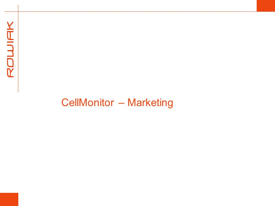 CellMonitor – Marketing