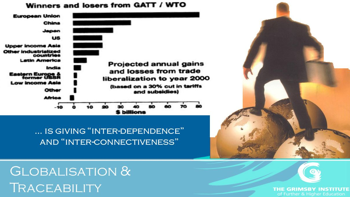 Globalisation & Traceability … is giving inter-dependence and inter-connectiveness