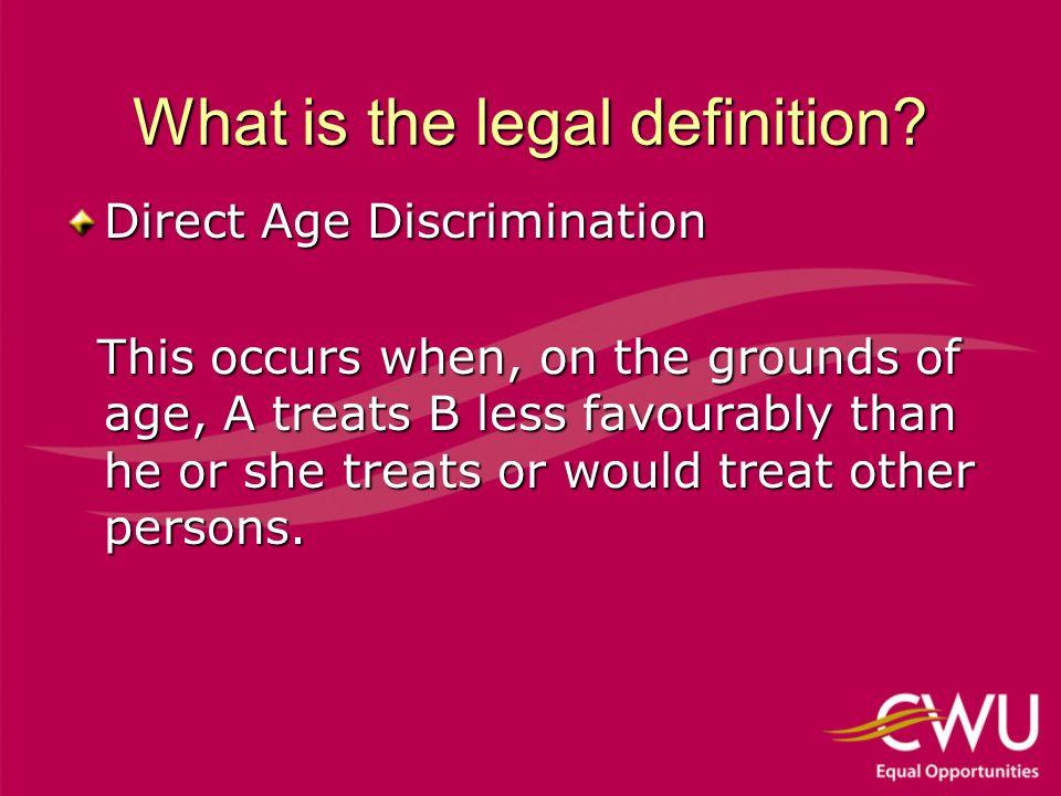 The legal definition cont.