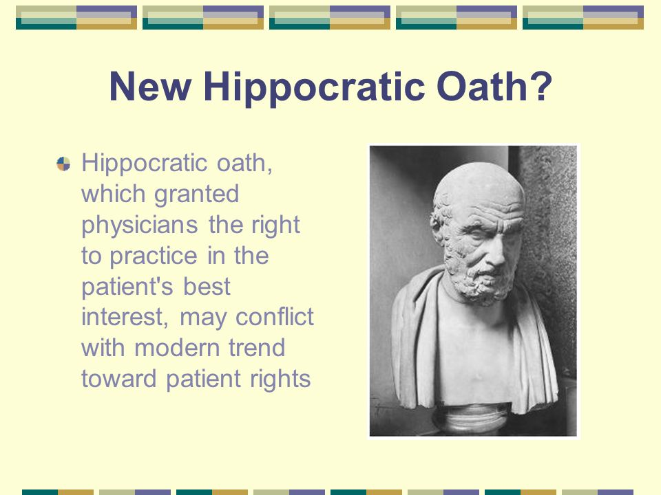 New Hippocratic Oath.