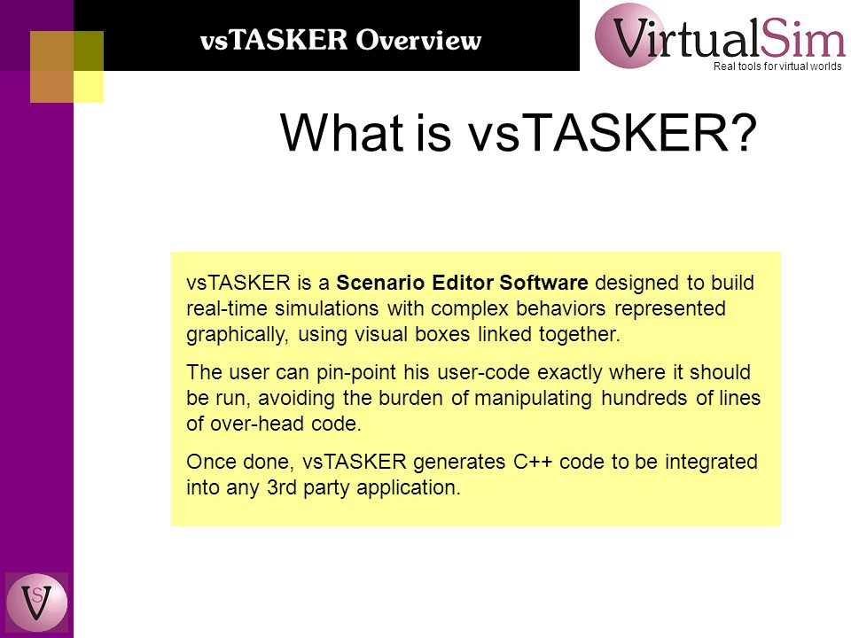 What is vsTASKER.