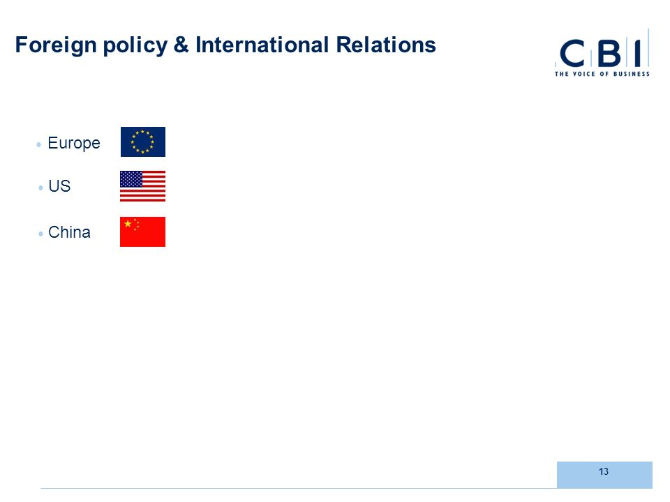 13 Foreign policy & International Relations Europe US China