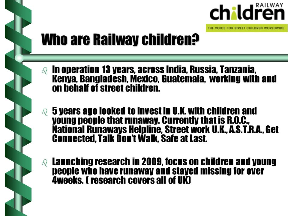 Who are Railway children.