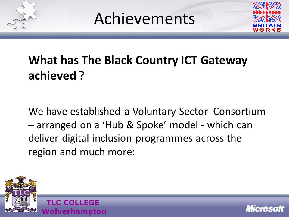 TLC COLLEGE Wolverhampton Fundraising Strategy Get known locally & regionally for what you can do !!.