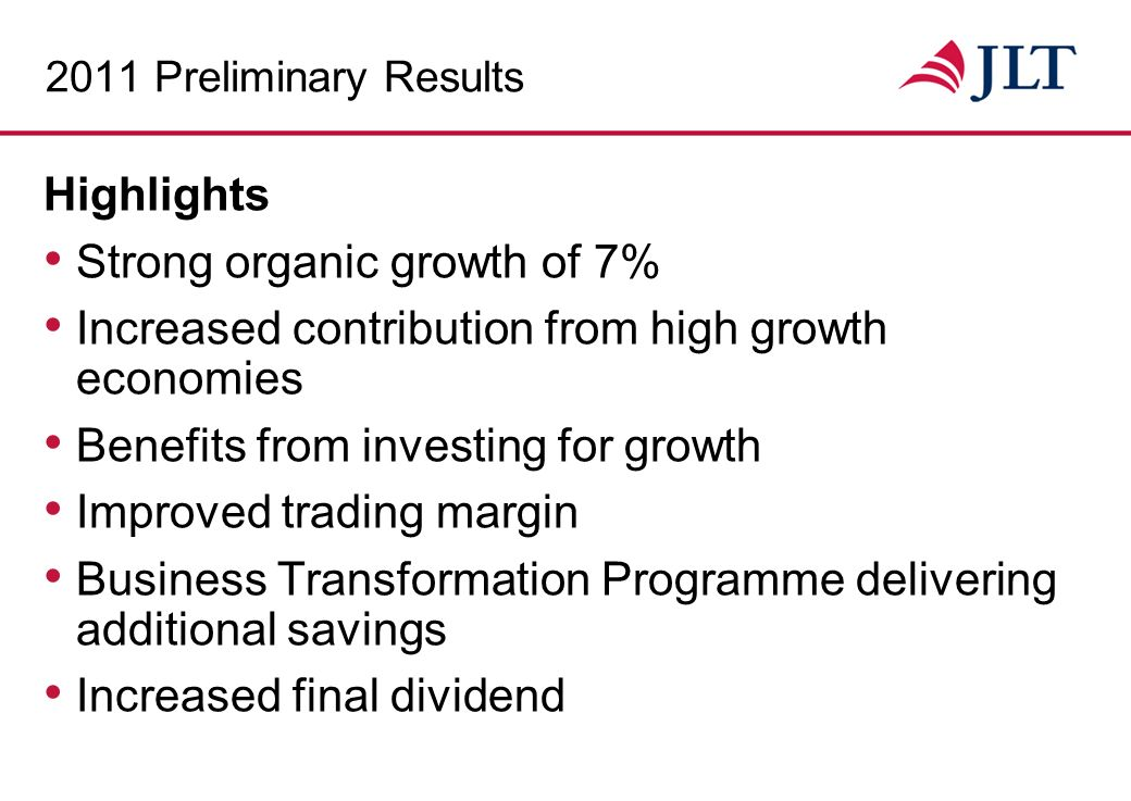 Total Revenue £m Underlying Trading Profit £m Underlying Diluted EPS Pence +72%+96%+90% 11.4% CAGR 14.4% CAGR 13.7% CAGR CAGR = 5 year Compound Annual Growth Rate 2006-2011