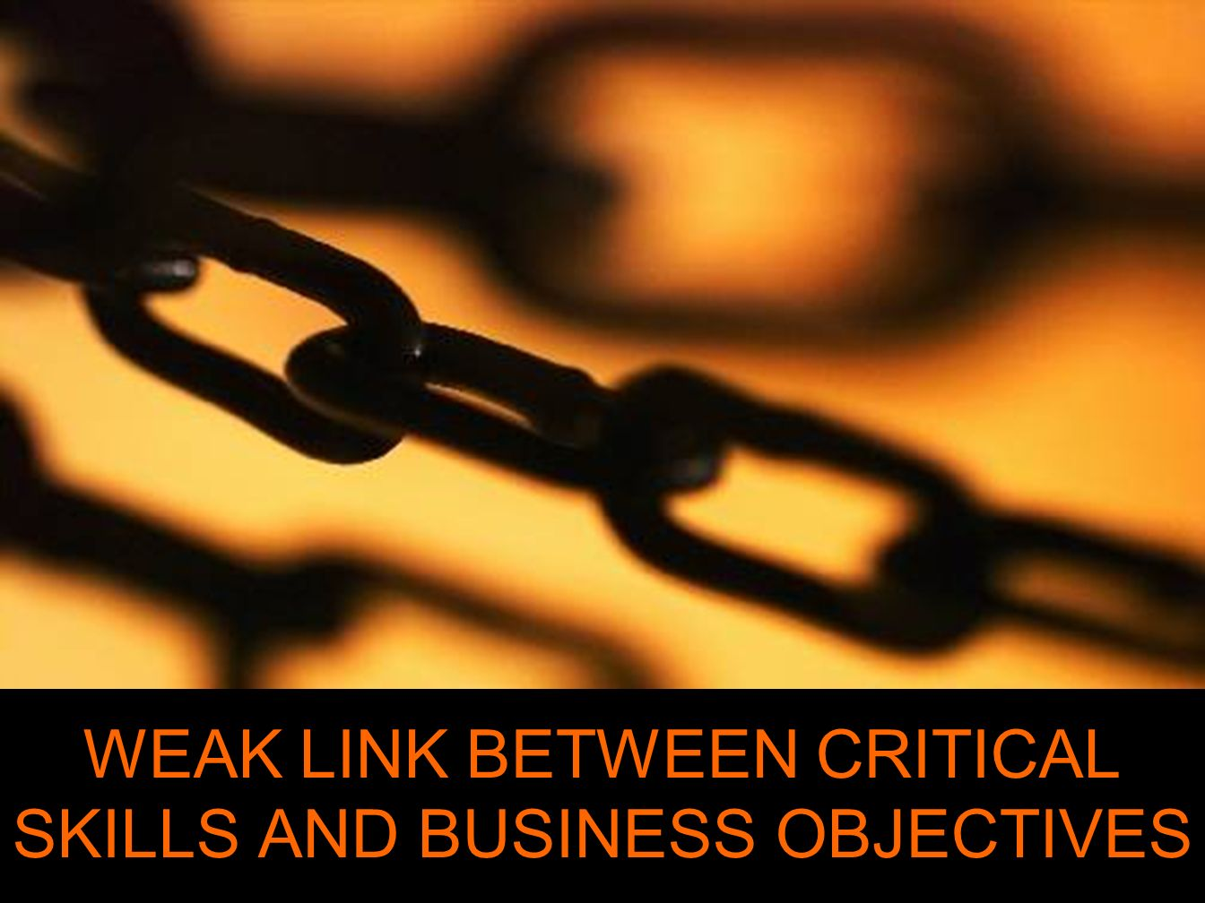 WEAK LINK BETWEEN CRITICAL SKILLS AND BUSINESS OBJECTIVES