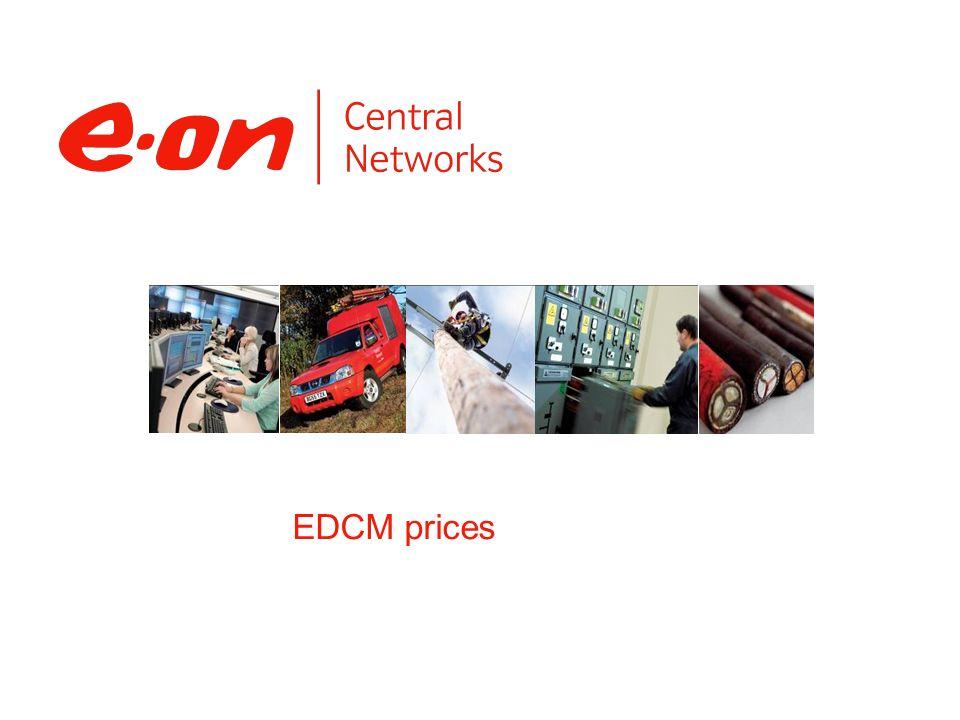 EDCM prices