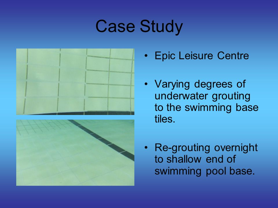 Case Study Epic Leisure Centre – Part of Cheshire Shared Services Swimming pool circulation outlet grid non- compliant with HSE Guidelines.