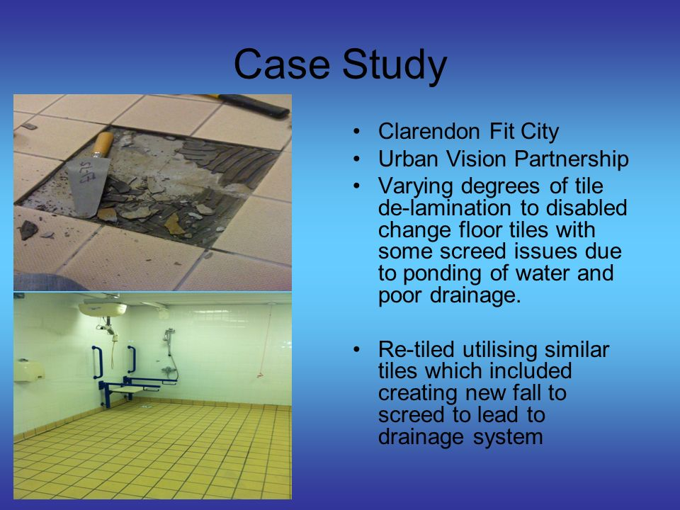 Case Study Plas Arthur Leisure Centre Isle Of Anglesey Swimming pool perimeter edge tiles have continual de- lamination problem.