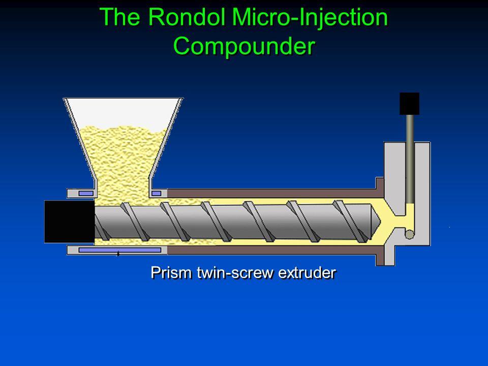 Prism twin-screw extruder