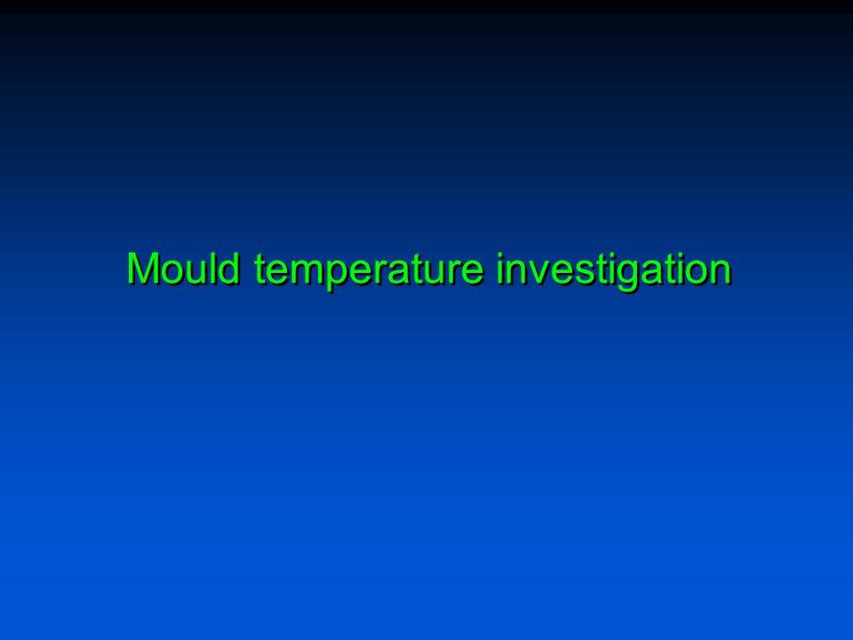 Mould temperature investigation
