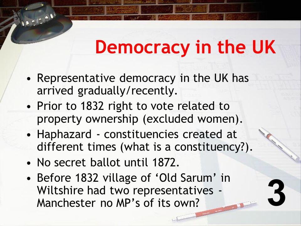 Making it easier to vote … In 2002 Cabinet Office published - In the Service of Democracy with the intent of making it easier to vote.