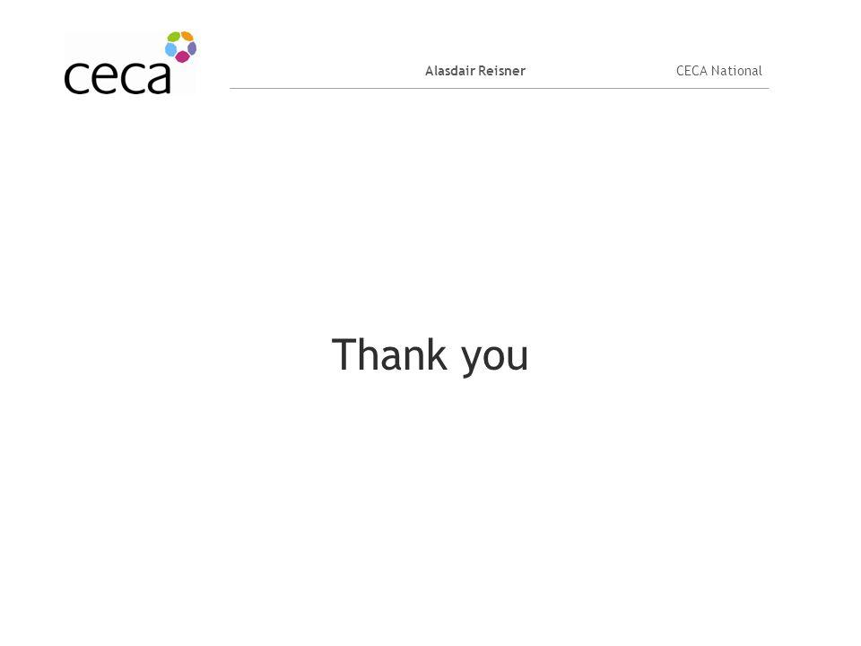 Alasdair ReisnerCECA National Thank you