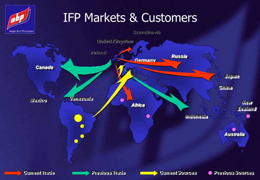 IFP Markets & Customers CanadaCanada ChinaChina United Kingdom RussiaRussia JapanJapan AfricaAfrica MexicoMexico Ireland Scandinavia AustraliaAustrali