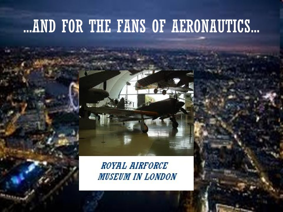 ...AND FOR THE FANS OF AERONAUTICS...