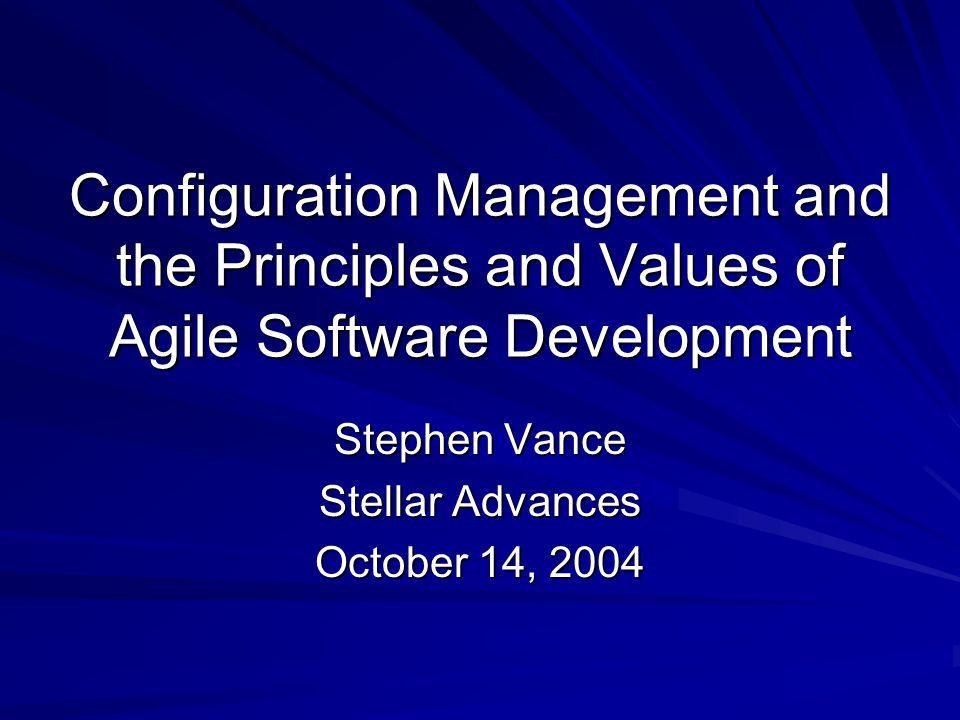 Agile Software Development Agile Methods –Low overhead –Low ceremony –Examples: Extreme Programming ScrumDSDM