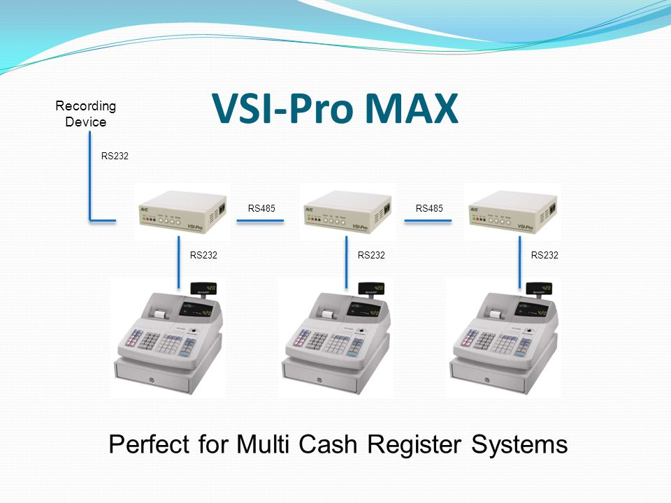 VSI-Pro MAX Recording Device RS485 RS232 Perfect for Multi Cash Register Systems