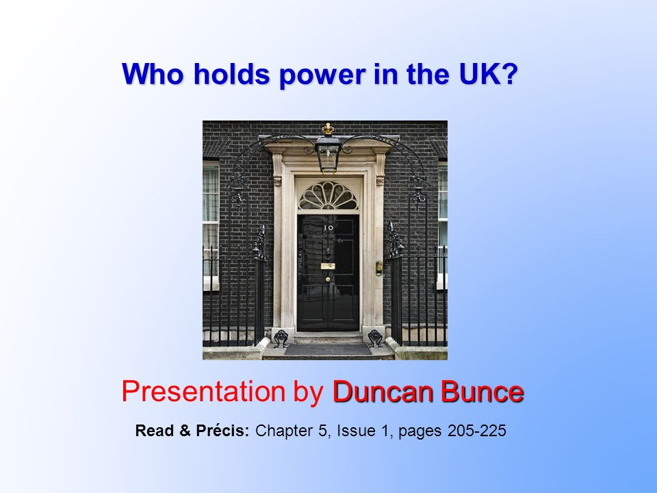 Who has economic power in the UK.