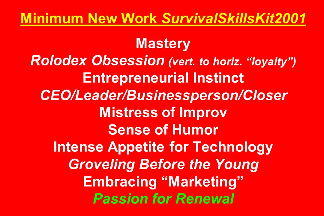 Minimum New Work SurvivalSkillsKit2001 Mastery Rolodex Obsession (vert.