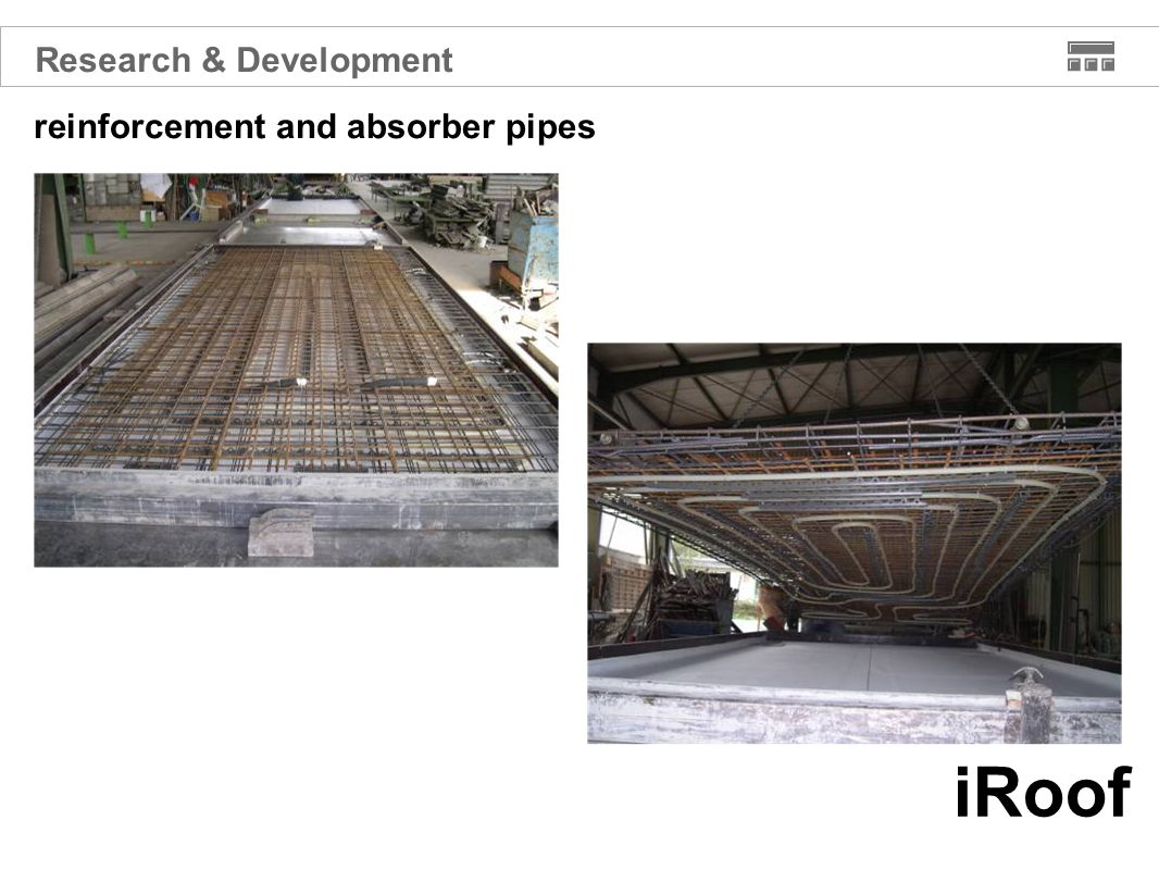 iRoof reinforcement and absorber pipes Research & Development