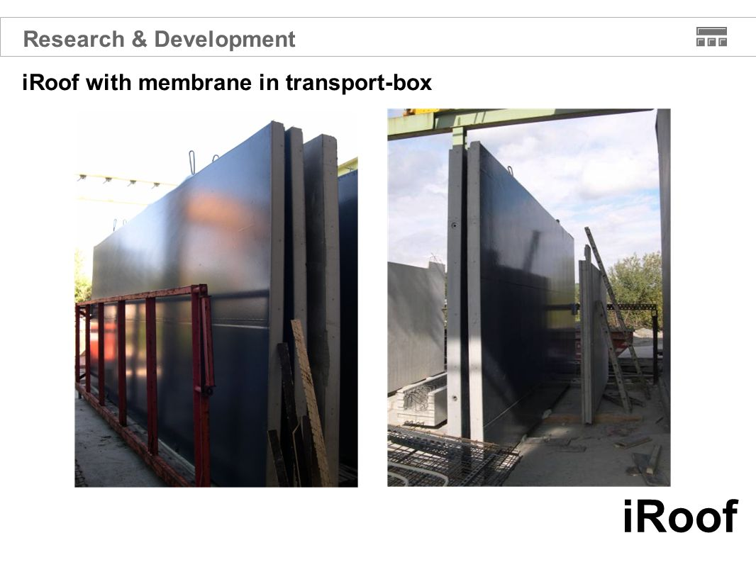 iRoof iRoof with membrane in transport-box Research & Development