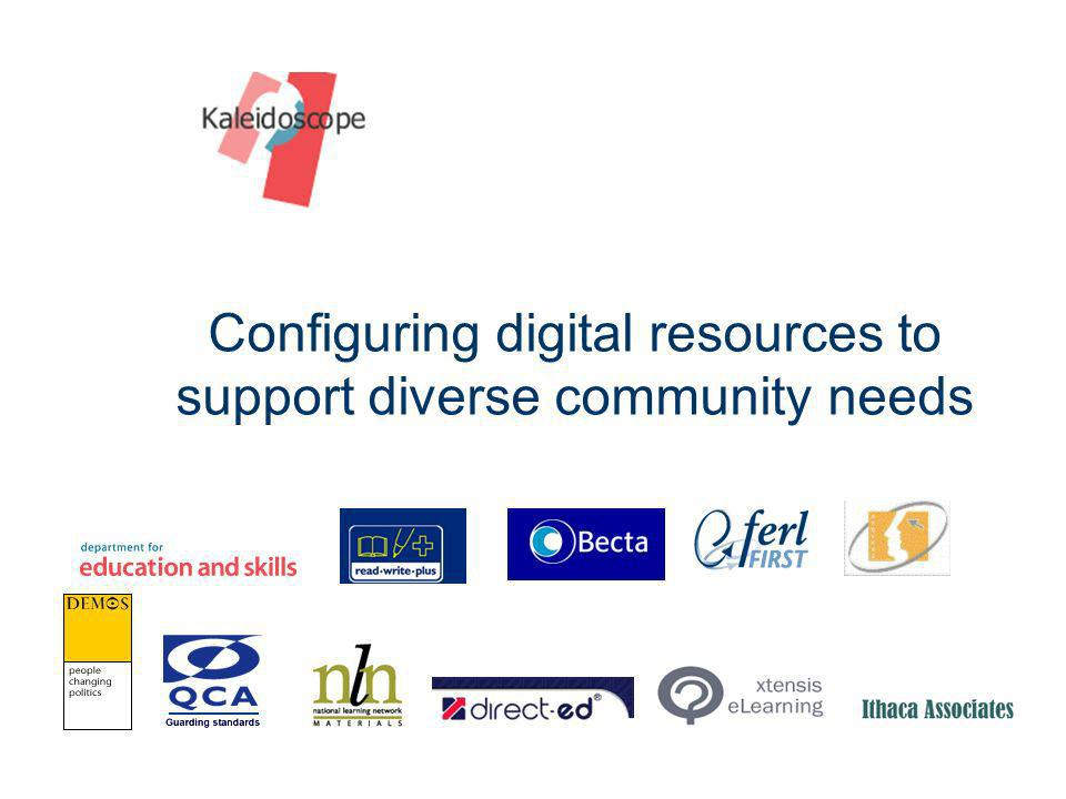Configuring digital resources to support diverse community needs