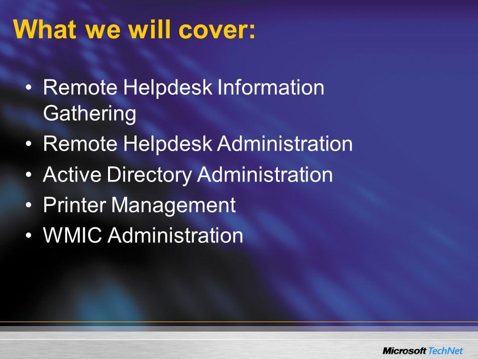 For More Information… Windows Server 2003 –www.microsoft.com/WindowsServer2003www.microsoft.com/WindowsServer2003 Windows Server 2003 Technology Centers –http://www.microsoft.com/windowsserver20 03/technologies/default.mspx
