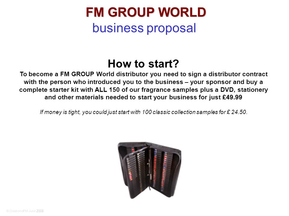 FM GROUP WORLD business proposal How to start.