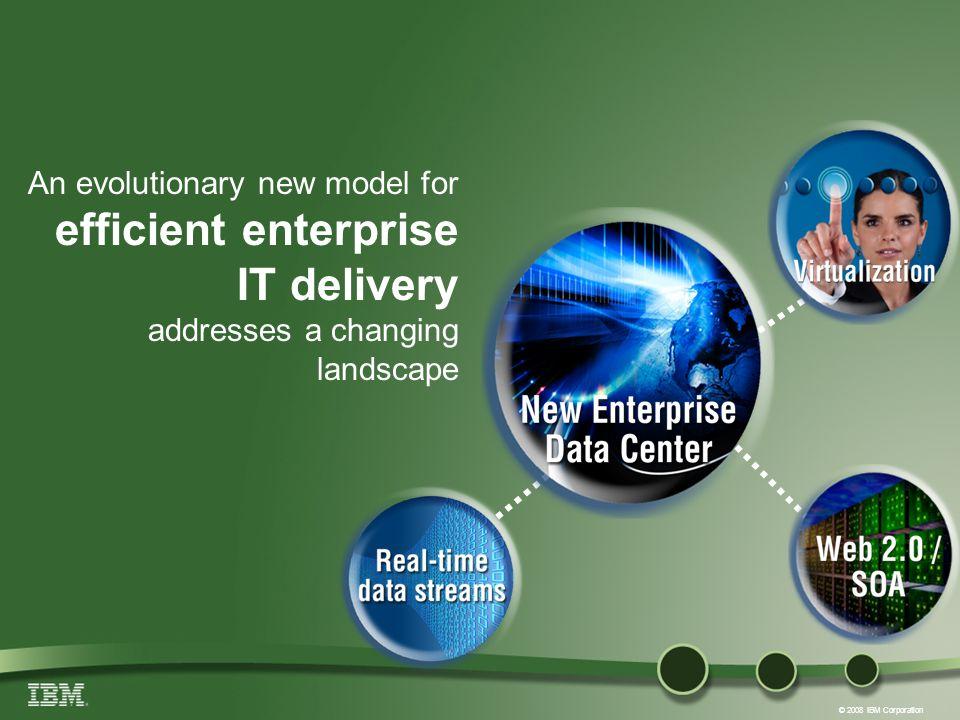 © 2008 IBM Corporation An evolutionary new model for efficient enterprise IT delivery addresses a changing landscape Virtualization