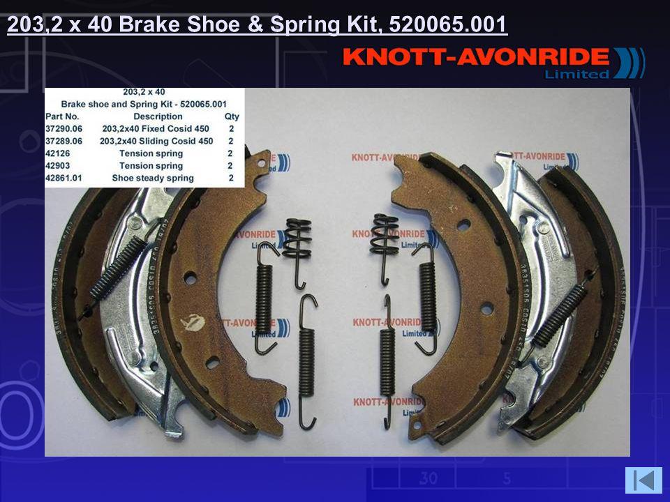 203,2 x 40 Brake Shoe & Spring Kit, 520065.001