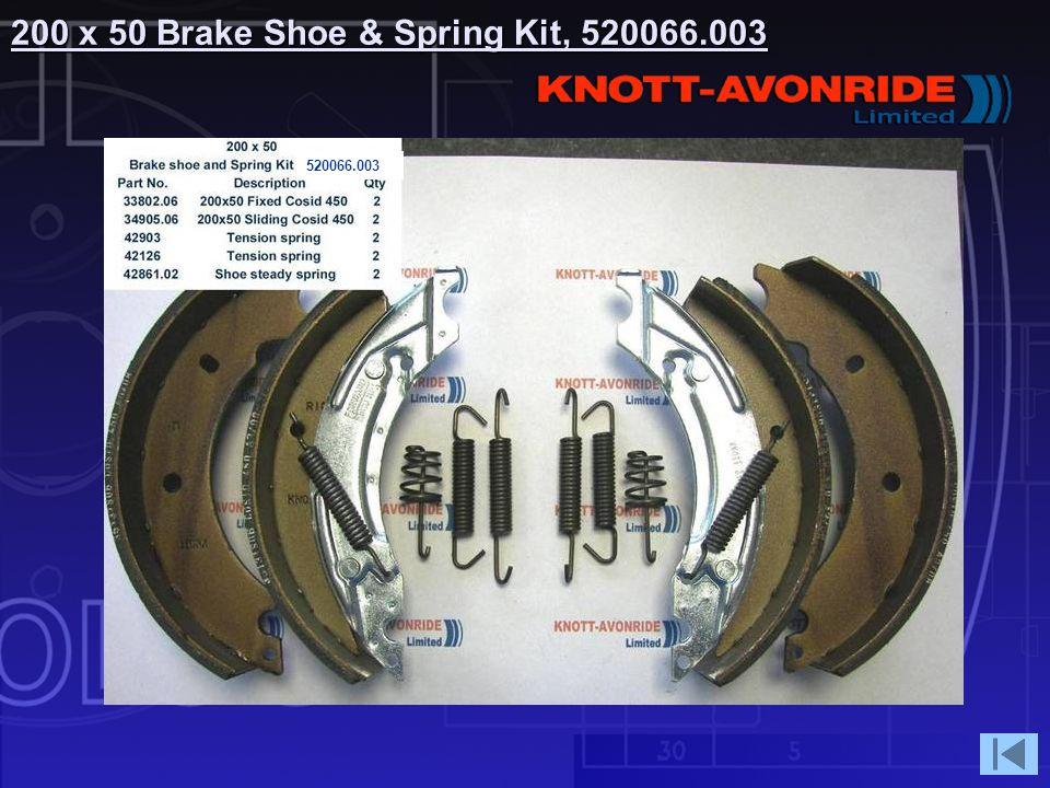 200 x 50 Brake Shoe & Spring Kit, 520066.003 520066.003