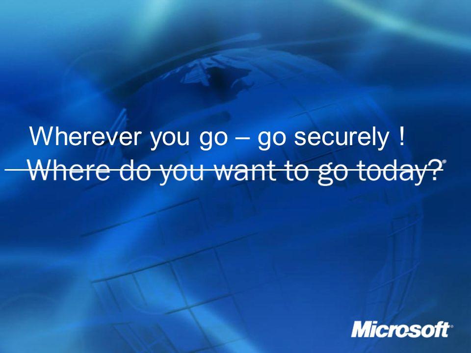 ____________________________________________________________ Wherever you go – go securely !