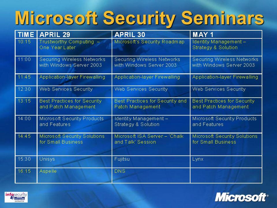 Microsoft Security Seminars