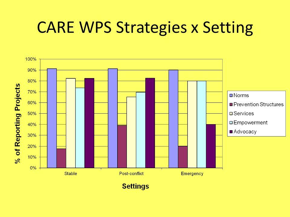 CARE WPS Strategies x Setting