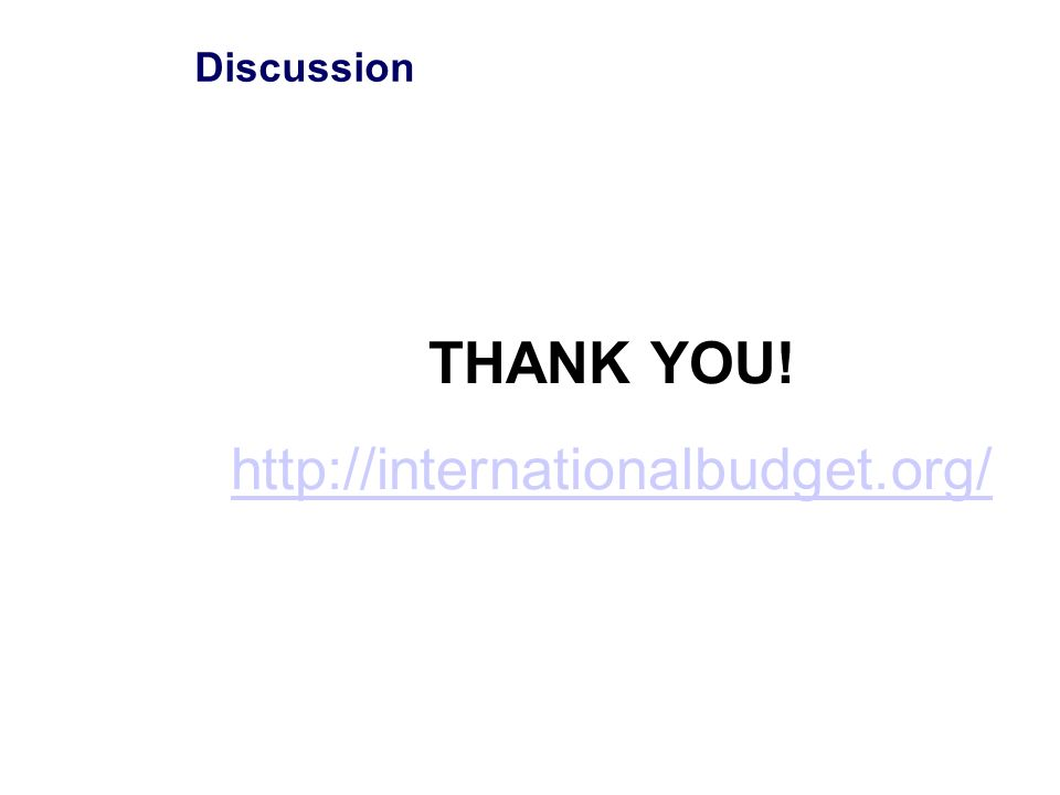 Discussion THANK YOU! http://internationalbudget.org/