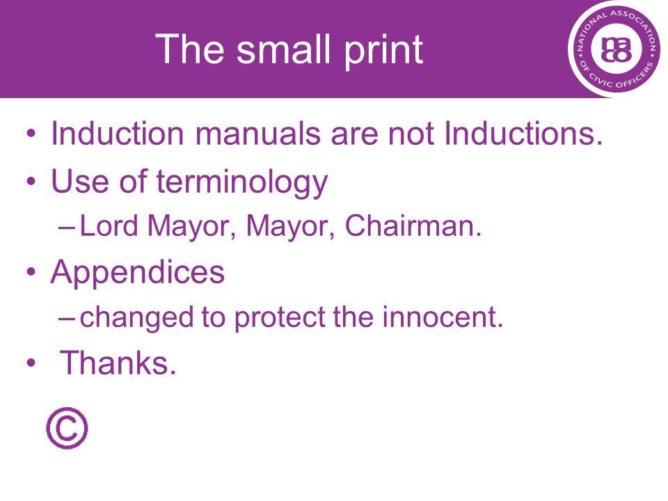 Precedence The legal bit.