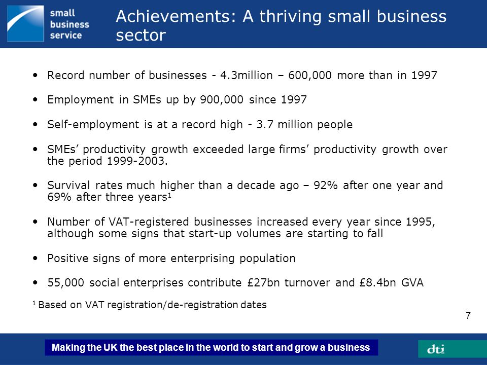 Making the UK the best place in the world to start and grow a business 18 Neighbourhood Renewal: Delivery Chain