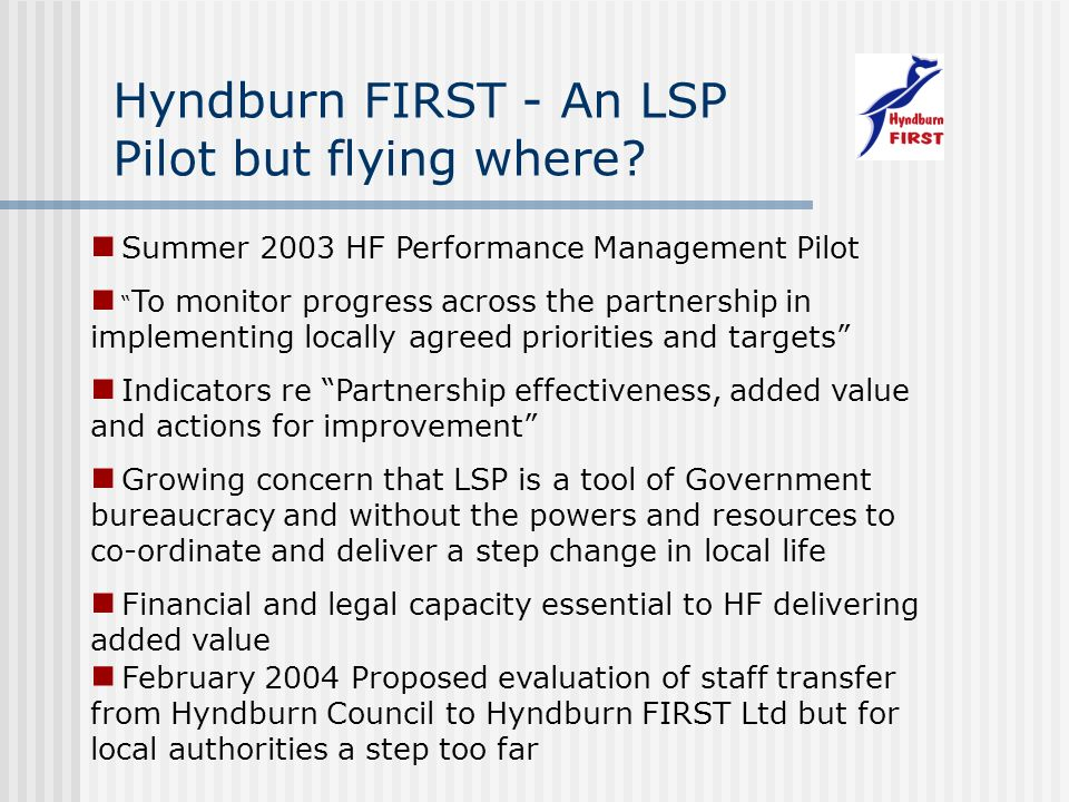 Hyndburn FIRST - An LSP Pilot but flying where.