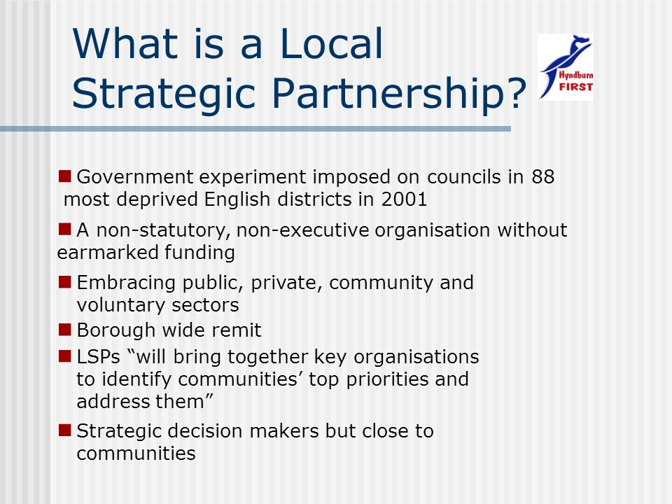 What is a Local Strategic Partnership.