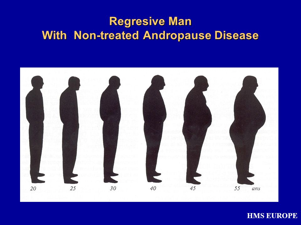 Regresive Man With Non-treated Andropause Disease HMS EUROPE
