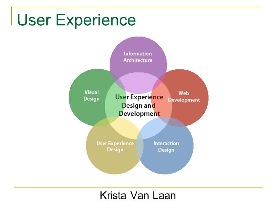 User Experience Krista Van Laan